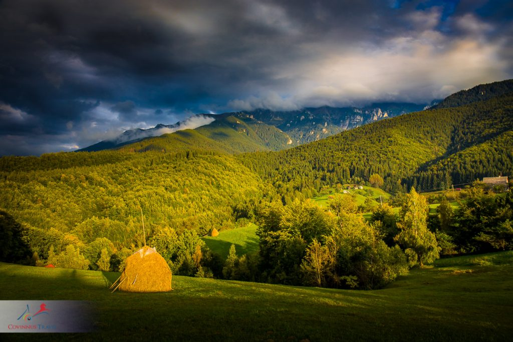 Rural landscape in Romania