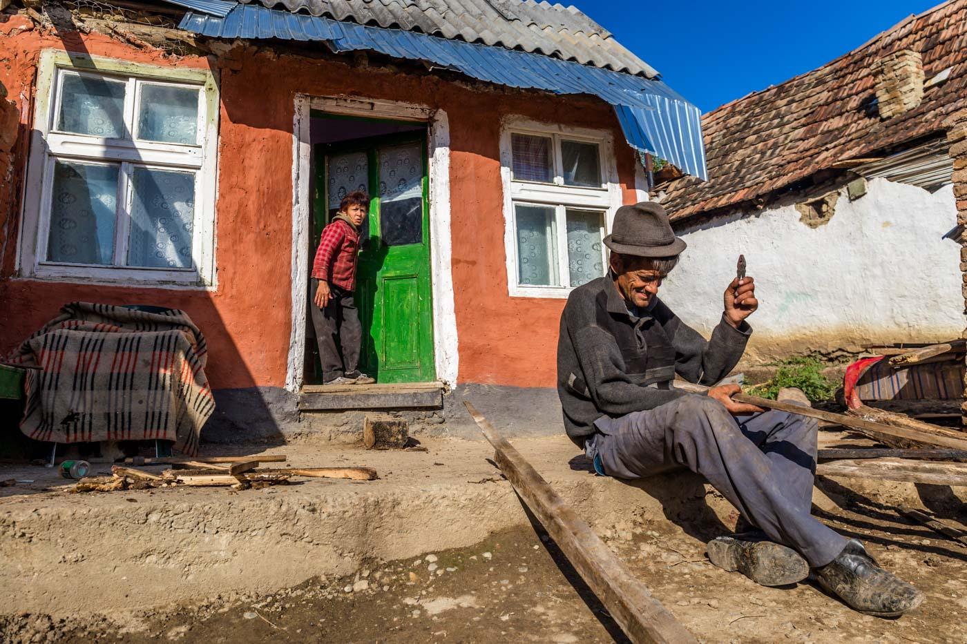 Roma family, Transylvania, Romania
