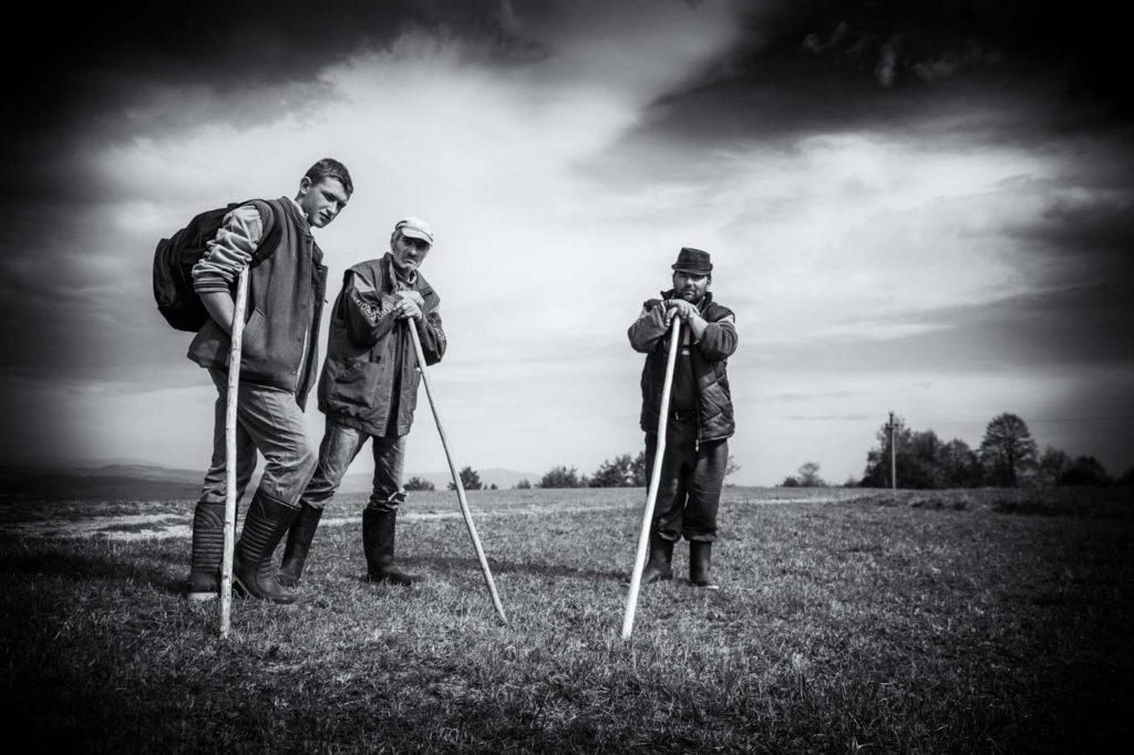 Shepherds, Transylvania, Romania